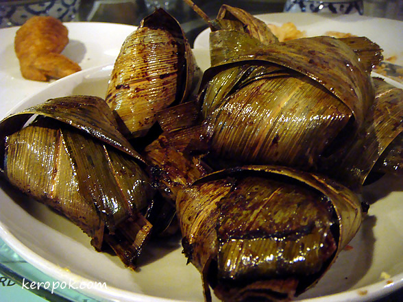 Chicken Wrapped in Pandan leaves