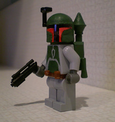 Boba Fett no cape (chaosfish1) Tags: starwars bobafett customlego
