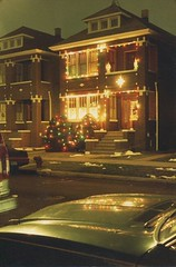 Christams in Chicago's Brighton Park neighborhood. Chicago Illinois. December 1988.