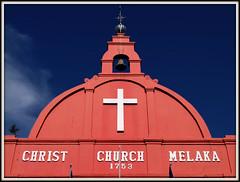 Facade of Christ Church Melaka (Malacca) | Malaysia (I Prahin | www.southeastasia-images.com) Tags: blue red heritage church dutch colonial zeeland unesco malaysia historical portuguese melaka malacca 1753 christchurchmelaka gettyimagessoutheastasiaq1