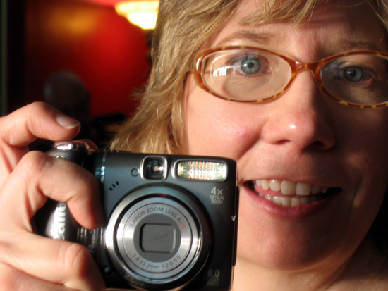 Alyce and Camera, Closeup (Click to enlarge)