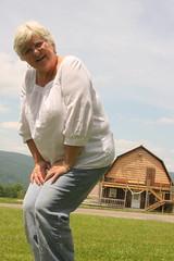 Sitting on a barn stool (jlbaynard) Tags: photo experimental perspective tricks trickphotography forcedperspective
