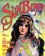 sunbird_1908 (Al Q) Tags: music princess indian sheet 1908 headdress sunbird