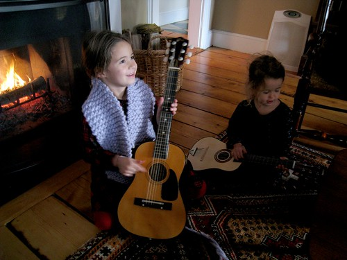 Emma and Sydney Playing Guitars