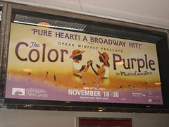We spent Thanksgiving night seeing The Color Purple. (12/27/2008)