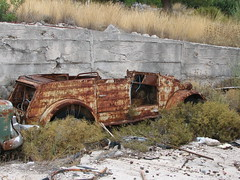 Kefalonia, Greece (Mic V.) Tags: classic volkswagen island rust 4x4 transport ile convertible greece unknown vehicle wreck grèce kefalonia grece ancienne rouille kefallonia inconnue epave kubelwagen céphalonie outterrain