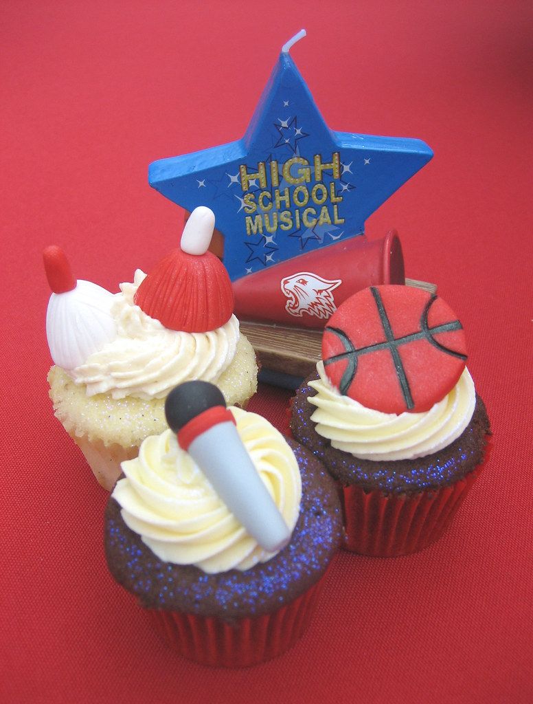 High School Musical Birthday Cupcakes