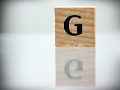 ..{ G is For  Gift  .... ( Marron Glac) Tags: wood reflection canon eos g letters  gift letter alphabet marron glac 400d marronglac marronglac