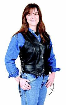 Womens Side-Lace Vest-Dynamicleather-US-Women clothing by Dynamicleather-US