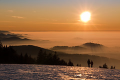 Now and Forever (andywon) Tags: sunset sun mist mountains love nature fog germany landscape deutschland couple hills inversion schwarzwald blackforest badenwrttemberg kandel explored