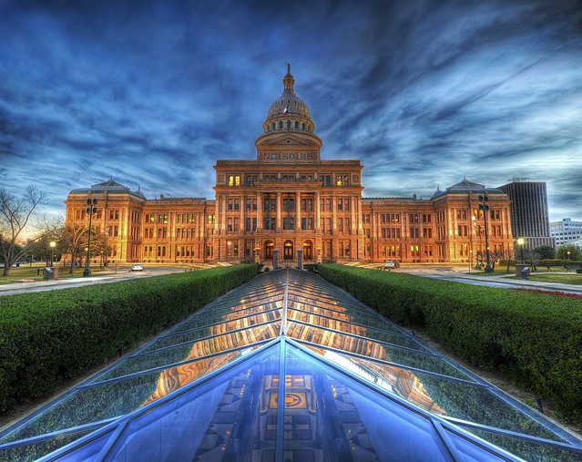 The State Capitol of Texas at Dusk by Stuck in Customs