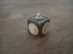 A teeny tiny button box (HA! Designs - Artbyheather) Tags: vintage tile fun little box buttons funky ephemera tiny scrabble bead hadesigns artbyheather