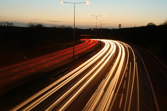 M25 motorway at night - shot 2 (Bob McCaffrey) Tags: longexposure lights motorway lighttrails hertfordshire m25 sarratt herts rickmansworth croxley croxslipy