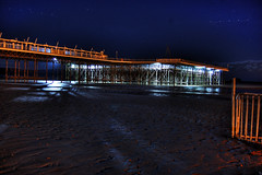 Weston Pier at night (Hugo Powell) Tags: night dark lights star pier high nikon mare dynamic super manual range hdr weston bracketing d40