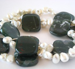 dark green moss agate
