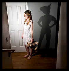 Wendy's Darling Shadow (1/365) (*Tiny Dancer*) Tags: shadow fairytale peterpan disney day1 teddybear wendy neverland storybook 365days