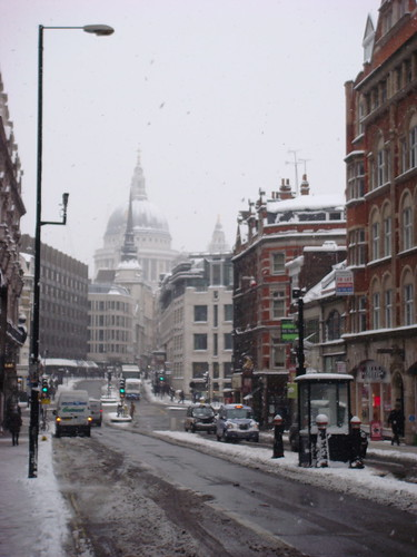Fleet St in the snow