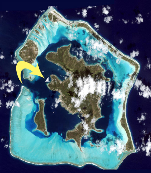 Satellite image of Bora Bora