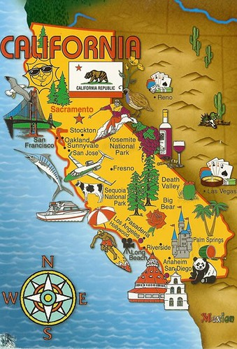 California State Map por dawlin1.
