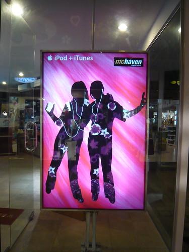 iPod + iTunes Ad in Bali