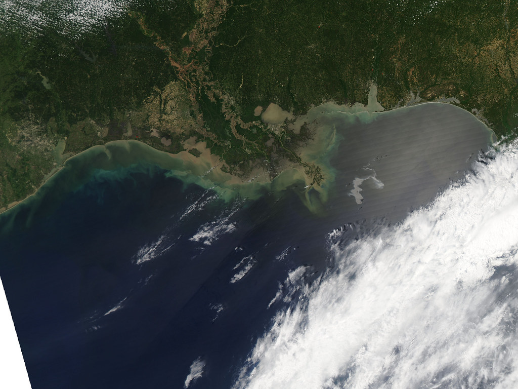 NASA AquaSat Image of the Oil Slick