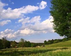 Brden (:Linda:) Tags: sky cloud germany village wolke thuringia cloudysky wolkig woodstack lumberpile brden bewlkterhimmel