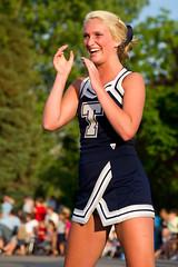 cheerleader (Sam Scholes) Tags: school smile smiling festival digital utah nikon parade highschool event cheer cheerleader clapping orem oremsummerfest d3s
