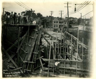 Construction of the new Frederick Road Bridge, Baltimore