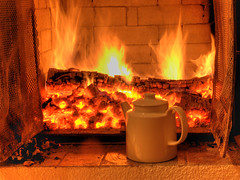 come in and warm up (Henri Bonell) Tags: red house hot home fire fireplace warm tea teapot soe eveningathome fineartphotos anawesomeshot diamondclassphotographer flickrdiamond theperfectphotographer flickrestrellas life~asiseeit