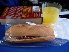 In flight snack on AirFrance AF7785, TLS-CDG