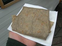 Crepe in Geneva: Fromage de chévre, roquette, graines de toumesol grillées