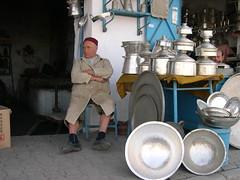 tinsmith in kairouan medina (elmina) Tags: tunisia tunisie kairouan tinsmith