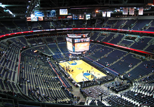 An empty Verizon Center - Washington Wizards
