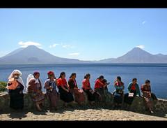 Una vista guatemalteca (anita gt) Tags: lake colors indgenas lago guatemala atitln colores volcanoes colori panajachel volcanes guate flickrgt