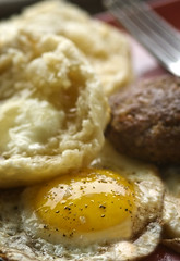 Breakfast (fhansenphoto) Tags: food breakfast sausage homemade honey eggs biscuits