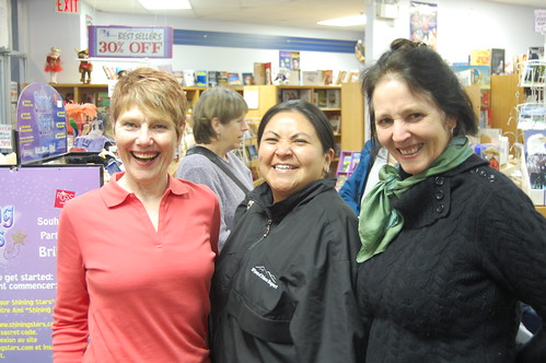 Nan and Theresa with Eden Robenson at Book Masters in Kitimat