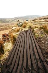 Half cut peat (soocee) Tags: ireland peat mayo bog mountians turf windygap loughtalt loughtaltwalkingfestival