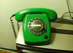 Standard Dutch telephone in green (Michiel2005) Tags: telephone telefoon ptt t65 bellen staatsbedrijf