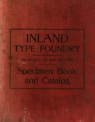 Inland (Depression Press) Tags: foundry vintage typography book graphicdesign stlouis font type catalog inland specimen typeface atf typedesign metaltype typesetting manufacturing americantypefoundry depressionpress