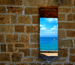 Window To The Sea (NatashaP) Tags: sea window wall sailboat israel nikon grandmother thumbsup acre acco akko bigmomma d40 akre flickrsbest cy2 challengeyouwinner abigfave anawesomeshot aplusphoto diamondclassphotographer flickrdiamond photofaceoffwinner a3b theperfectphotographer pfogold lpwindows2