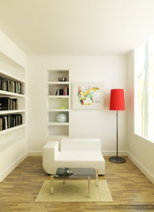 Reading room (Ngoc T Phan) Tags: cinema architecture 3d interior render cinema4d c4d 4d vray