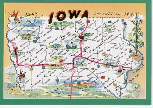 mapa de Iowa State - Mapas online Blog