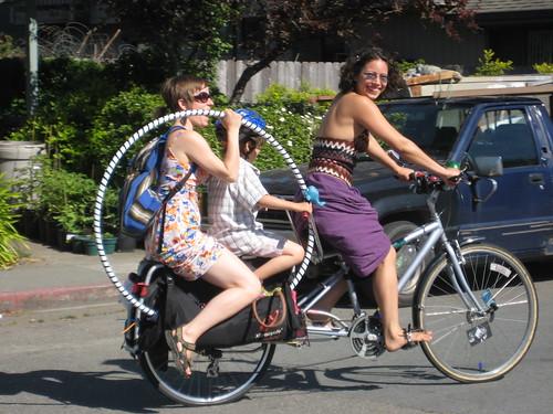 artemesia and her incredible bike, arcata CA