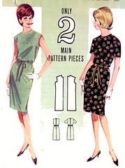 B3026 Gallery (sandritocat) Tags: vintage mod international size12 sewingpattern shiftdress quickandeasy vintage60s bust32 butterick3026