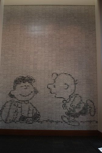 Charlie Brown and Lucy Mural