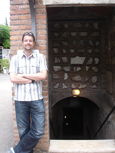 Ed at the entrance to the Catacombs.