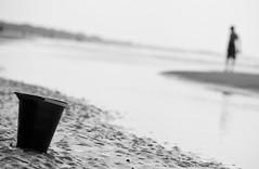 pail (eklingenberg) Tags: blackandwhite beach pool nikon southcarolina tidal pail kiawahisland