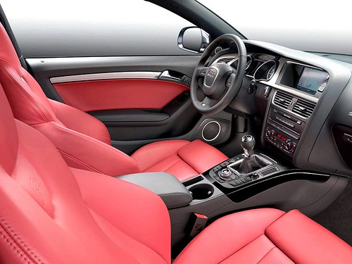 Audi A5 Coupe Red. Audi A5 red leather seats