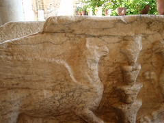 Gryphon relief on sarcophagus (steven_and_haley_bach) Tags: byzantine mystras sixthday mistras greecevacation byzantineruins
