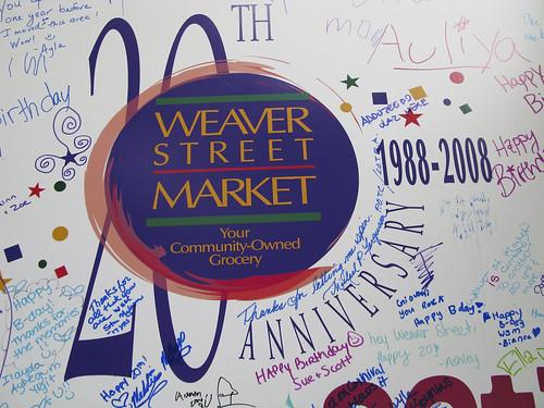 20th Weaver Street Market Anniversary